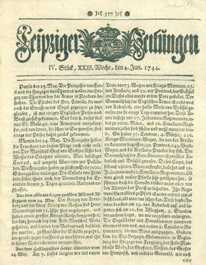 Leipziger Zeitungen vom 04.06.1744