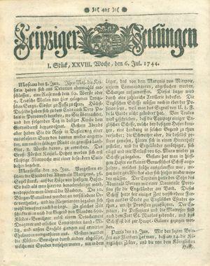 Leipziger Zeitungen vom 06.07.1744