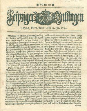 Leipziger Zeitungen vom 13.07.1744