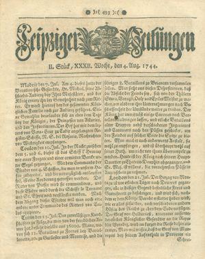 Leipziger Zeitungen vom 04.08.1744