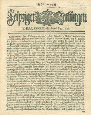 Leipziger Zeitungen vom 06.08.1744