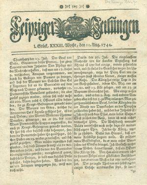 Leipziger Zeitungen vom 10.08.1744