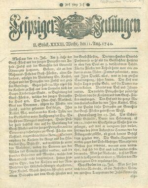 Leipziger Zeitungen on Aug 11, 1744