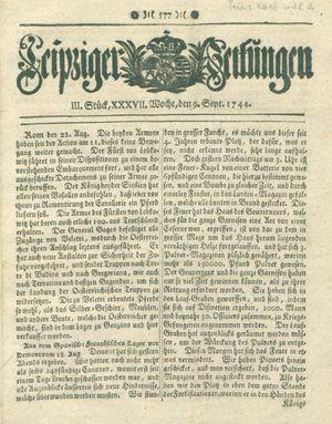 Leipziger Zeitungen on Sep 9, 1744
