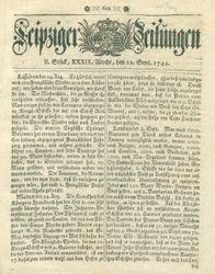 Leipziger Zeitungen (22.09.1744)