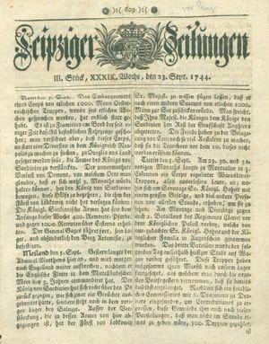 Leipziger Zeitungen on Sep 23, 1744