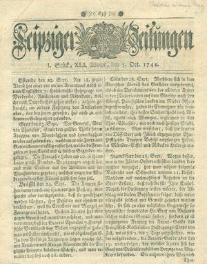 Leipziger Zeitungen vom 05.10.1744