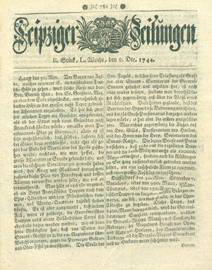 Leipziger Zeitungen vom 08.12.1744