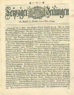 Leipziger Zeitungen vom 09.12.1744