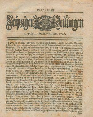 Leipziger Zeitungen vom 04.01.1747