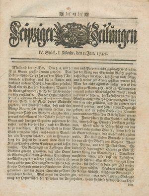 Leipziger Zeitungen vom 05.01.1747