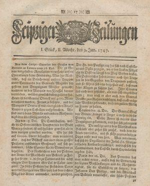 Leipziger Zeitungen vom 09.01.1747
