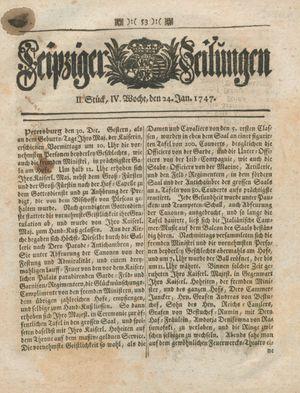 Leipziger Zeitungen on Jan 24, 1747