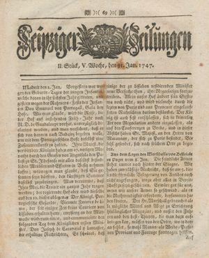 Leipziger Zeitungen vom 31.01.1747