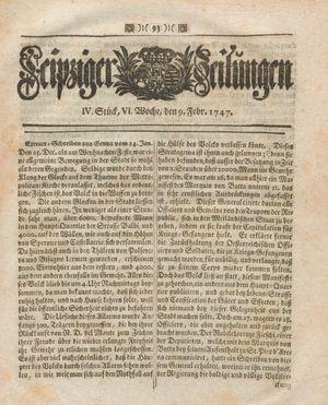 Leipziger Zeitungen on Feb 9, 1747