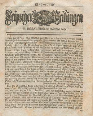 Leipziger Zeitungen vom 15.02.1747