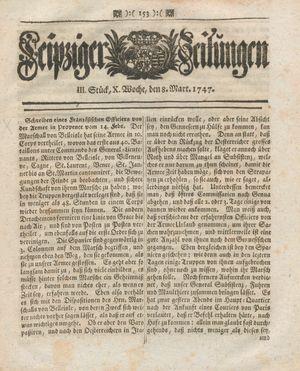 Leipziger Zeitungen vom 08.03.1747