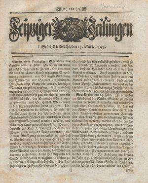 Leipziger Zeitungen vom 13.03.1747