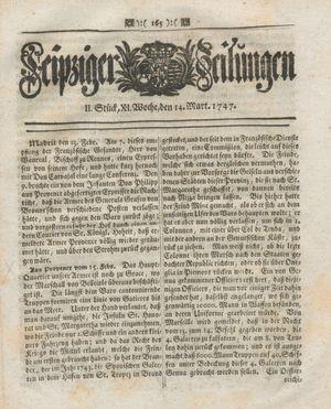 Leipziger Zeitungen vom 14.03.1747