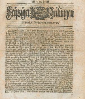 Leipziger Zeitungen vom 15.03.1747