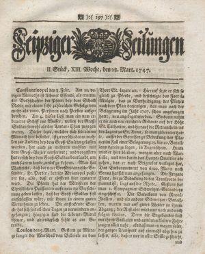 Leipziger Zeitungen vom 28.03.1747