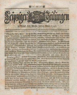 Leipziger Zeitungen vom 29.03.1747