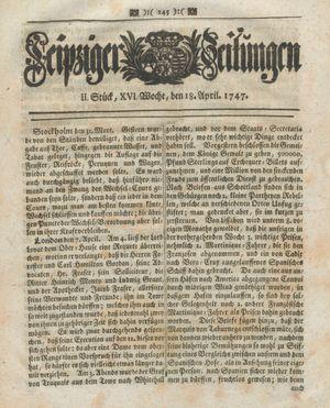 Leipziger Zeitungen vom 18.04.1747