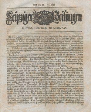 Leipziger Zeitungen vom 03.05.1747