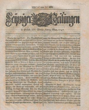 Leipziger Zeitungen vom 09.05.1747