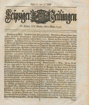Leipziger Zeitungen vom 11.05.1747