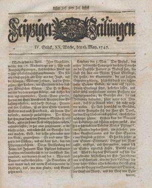 Leipziger Zeitungen vom 18.05.1747