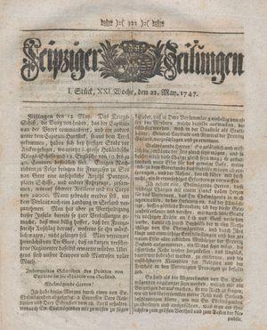 Leipziger Zeitungen vom 22.05.1747