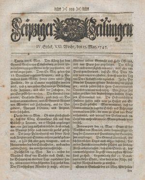 Leipziger Zeitungen vom 25.05.1747