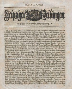 Leipziger Zeitungen vom 31.05.1747