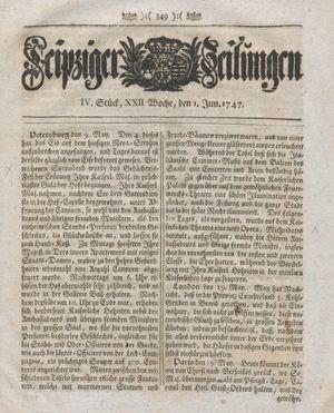 Leipziger Zeitungen vom 01.06.1747