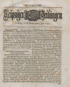 Leipziger Zeitungen vom 05.06.1747