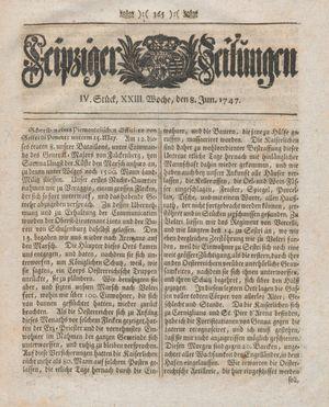 Leipziger Zeitungen vom 08.06.1747