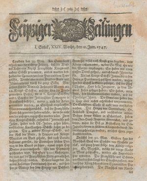 Leipziger Zeitungen vom 12.06.1747