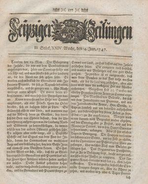 Leipziger Zeitungen vom 14.06.1747