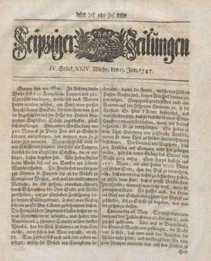 Leipziger Zeitungen on Jun 15, 1747