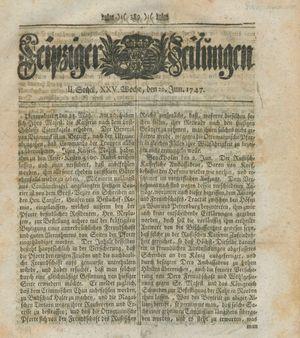 Leipziger Zeitungen vom 20.06.1747