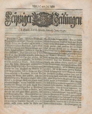 Leipziger Zeitungen vom 26.06.1747