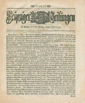 Leipziger Zeitungen vom 05.07.1747