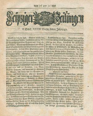 Leipziger Zeitungen on Jul 11, 1747