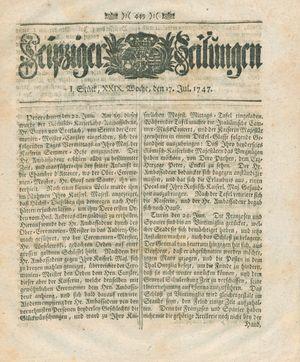 Leipziger Zeitungen vom 17.07.1747