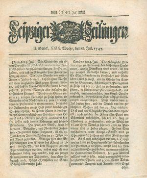 Leipziger Zeitungen vom 18.07.1747