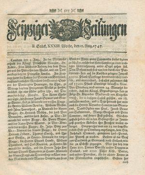 Leipziger Zeitungen vom 15.08.1747
