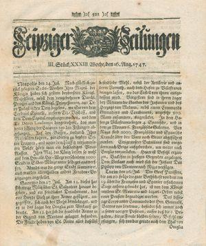 Leipziger Zeitungen vom 16.08.1747