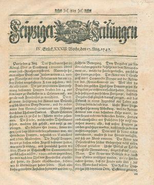 Leipziger Zeitungen vom 17.08.1747