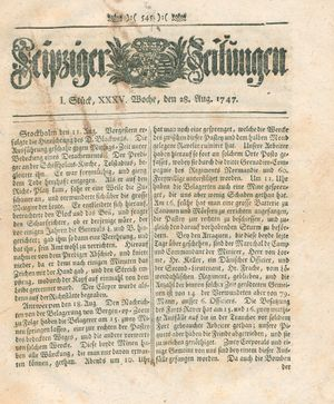 Leipziger Zeitungen vom 28.08.1747